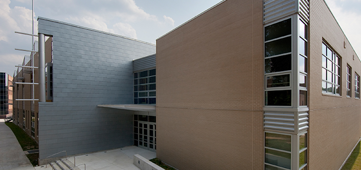 The Art and Design building, designed by Ayers Saint Gross, is an 88,000-square-foot facility.