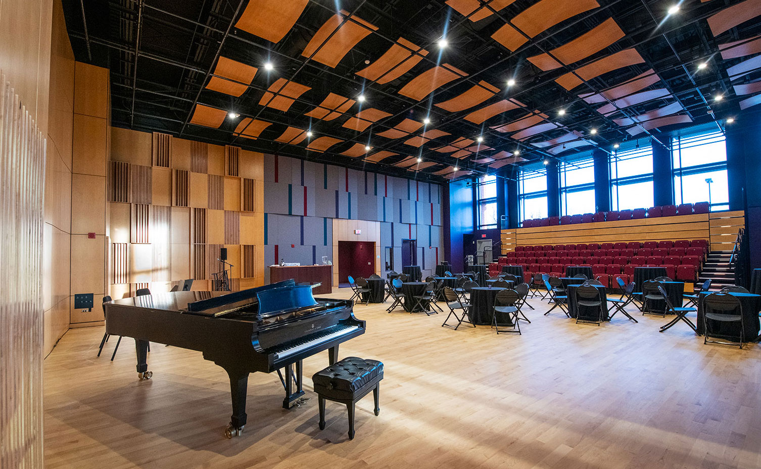 Large Rehearsal Hall inside the new Education and Rehearsal Wing at the Hylton Performing Arts Center.