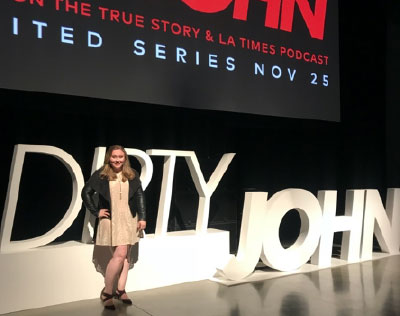 While working for Atlas Entertainment in Los Angeles, Crain attended the first episode premiere of the true crime series Dirty John.